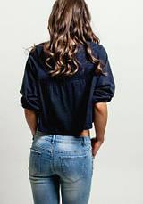 Блузка женская / синяя , черная, белая, фото 3