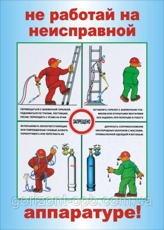 Плакат «Не работай на неисправной аппаратуре»