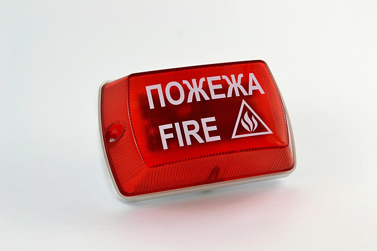 """Оповещатель светозвуковой """"Тортила"""" С-55С-220, с информационной надписью"""
