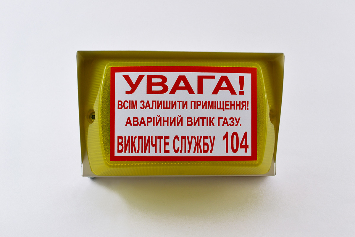 """Оповещатель светозвуковой """"Пионер-2"""" 24В, с информационной надписью"""