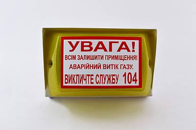 """Оповещатель светозвуковой """"Пионер-5"""" 220В, с информационной надписью Сенко (000017390)"""