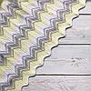 Плед вязаный Ohaina Missoni 120х80 хлопок цвет желтый и сталь