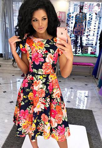 Изящное летнее платье-миди с цветочным принтом, фото 2