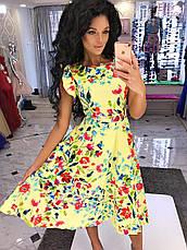 Изящное летнее платье-миди с цветочным принтом, фото 3