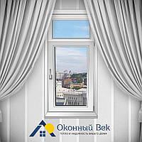 Одностворчатое металлопластиковое окно с фрамугой Rehau