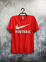 Спортивная красная футболка Nike football.