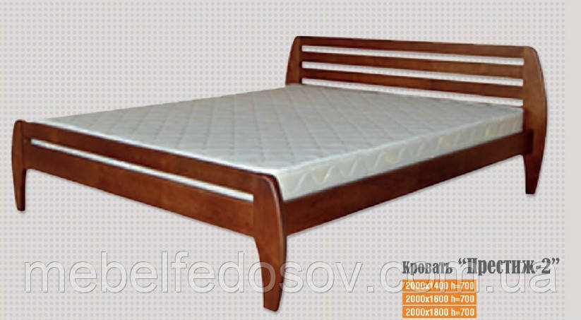 Кровать двухспальная деревянная Престиж 2 (Юта) 1400х1900(2000) - СПД Федосов Г.В. в Белой Церкви