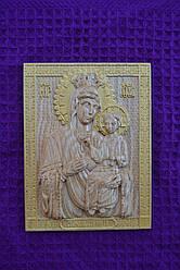 Икона Пресвятой Богородицы Скоропослушница,резьба по дереву