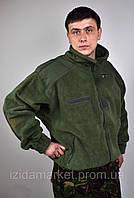 Простая зеленная куртка - кофта с резинкой без капюшона из Франции