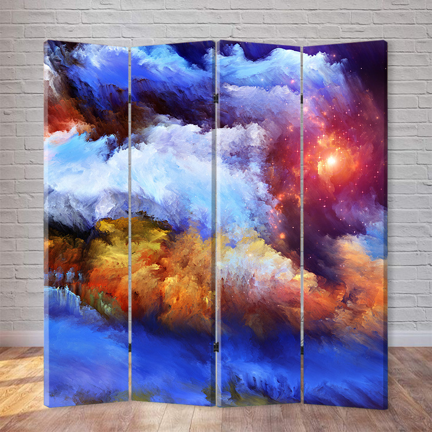 "Ширма ""Цветные облака"""