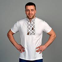 Белоснежная футболка с вышивкой для мужчин