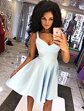 Платье клёш с глубоким  V-образным декольте, фото 3