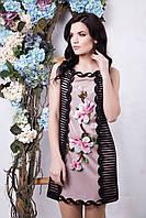 Красивое платье Вивьен черный+розовый