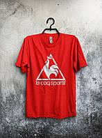 Футболка мужская, красная Le Coq Sportif.