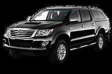 Защита заднего бампера Toyota Hilux (2012-2015)
