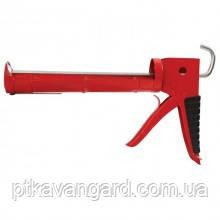 Пистолет для выдавливания силикона 225 мм с обрезиненной рукояткой INTERTOOL HT-0023