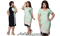 Летнее платье большого размера Minova ( р. 50-60 )