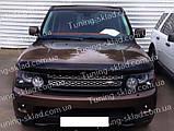 Дефлектор Рендж Ровер Спорт 1 (мухобойка на капот Range Rover Sport 1), фото 2