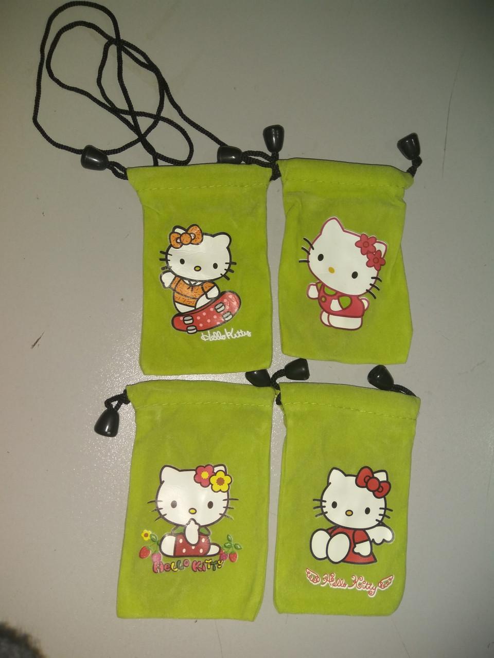 Чохол фланель Kitty для iPhone, Samsung, mp3, mp4