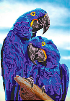 Схема для вышивки бисером POINT ART Влюбленные попугаи, размер 21х30 см