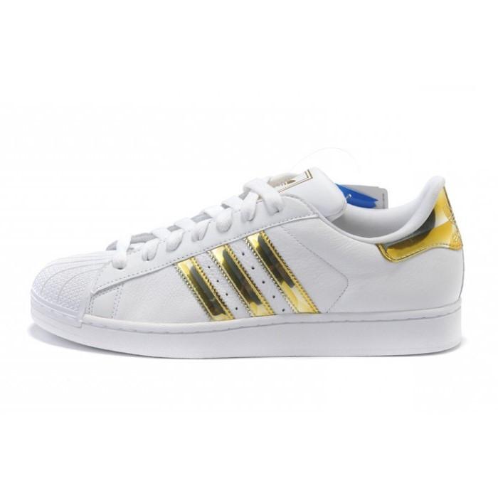 Женские кроссовки Adidas Superstar White Gold