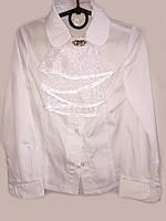 Блуза для девочки со съемным жабо  057