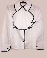 Блуза с воротником и съемным жабо  058