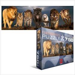 """Пазл EuroGraphics """"Великі кішки"""" (750 шт.)"""
