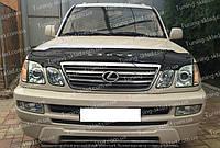 Мухобойка Лексус LX470 с логотипом (дефлектор Lexus LX470 с надпись)