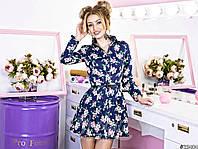 Платье -рубашка с манжетами и воротом на пуговицах