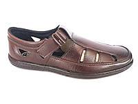 Сандалии мужские коричневый на липучках PERFECT Б-4