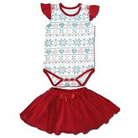 Боди короткий курав + юбка для девочки