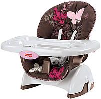 Детский стульчик бустер для кормления  Фишер Прайс  Fisher Price от 0 до 4 лет 2в1 Бабочка Мокко