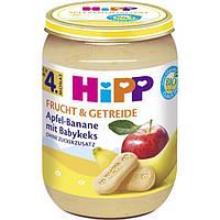 HiPP Bio Frucht & Getreide Apfel-Banane mit Babykeks - Яблоко-банан с детским печеньем, после 4 месяца, 190 г