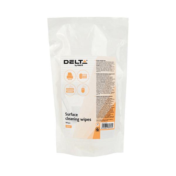 Салфетки для оргтехники влажные Delta by Axent D5311, 100 шт, сменные