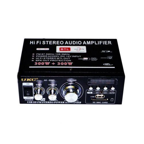 Підсилювач UKC AK-699D MP3 FM 12v 220v New