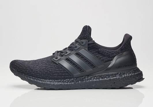 Кроссовки Мужские Adidas Ultra Boost black, Адидас Ультра Буст, реплика