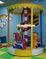 Десткая мягкая карусель Пони - детские аттракционы для парков и помещений