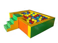 Сухой бассейн Квадрат с горкой (2,0х2,0), фото 1