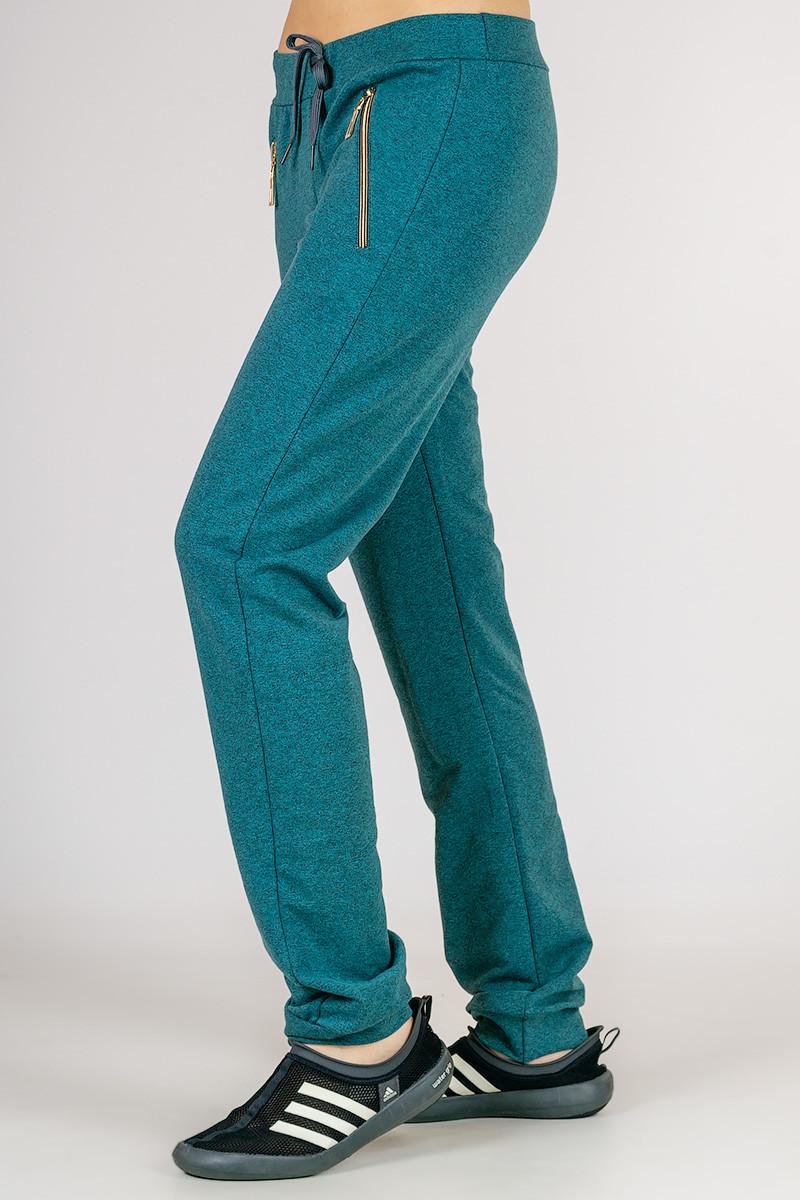 Трикотажные женские брюки Город_весна (бирюза)