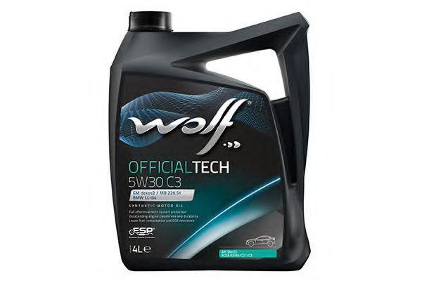 Синтетическое моторное масло Wolf 5w-30 Officialtech 5w-30 C3 5L