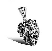 Подвеска серебряная Лев,Голова Льва