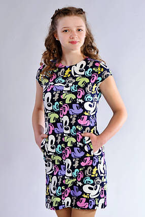 Летнее подростковое платье с принтом Микки Маус, фото 2