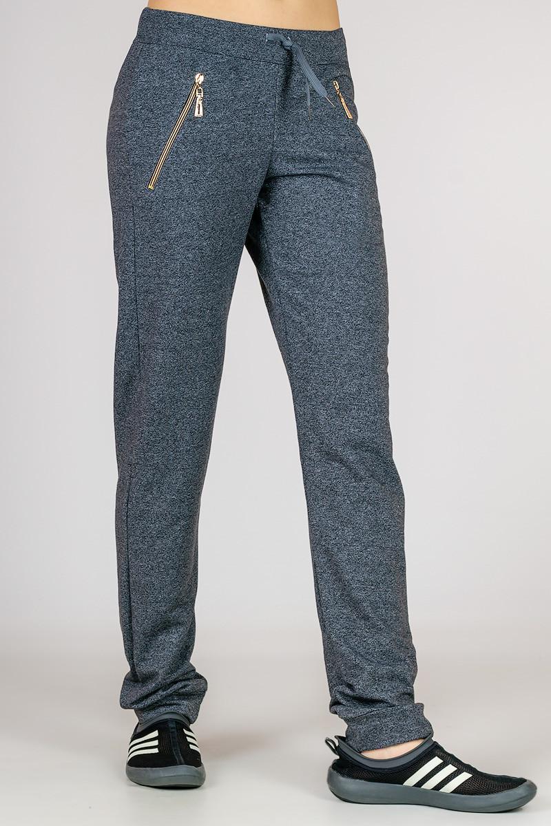 Трикотажные женские брюки Город весна (серый)