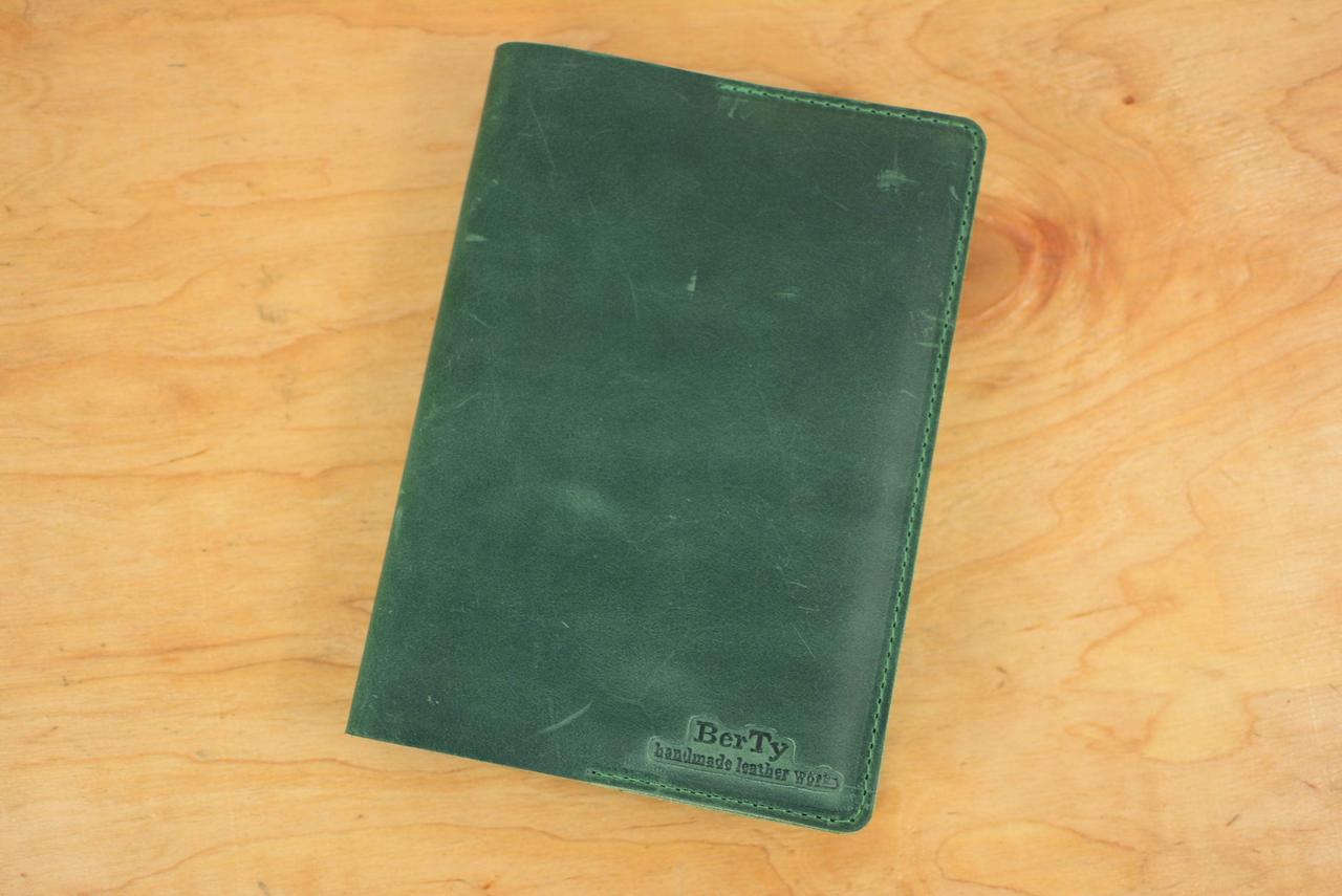 Обложка для блокнота формата А5 |10551| Зеленый