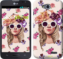 "Чохол на LG K5 X220 Дівчина з квітами v2 ""3569c-457"""