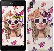 """Чехол на Sony Xperia E5 Девушка с цветами v2 """"3569c-458"""""""