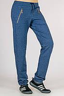 Трикотажные женские брюки Город_весна (синий меланж)