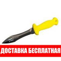 Нож подводного охотника Sargan Тургояк-Стропорез; чернёный; жёлтая рукоять сарган
