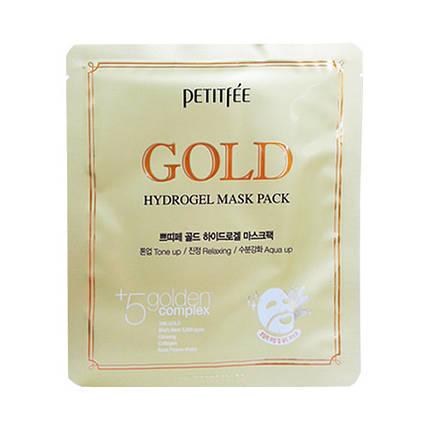 Гидрогелевая маска для лица с золотом PETITFEE Gold Hydrogel Mask Pack, фото 2